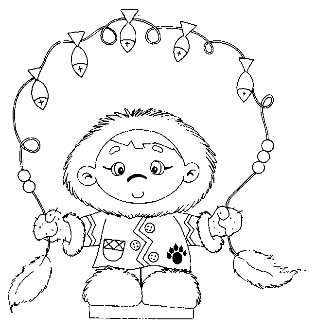 eskimo colouring pages cake ideas and designs