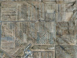 STRANGE ABANDONED VEHICLES -MILITARY AIRCRAFT BONEYARD - B-52 BOMBERS - OTHERS - AERIAL VIEW