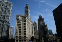 "<p class=""MsoNormal"" style=""MARGIN: 0in 0in 0pt""><font size=""1"">Wrigley Building a <st1:place><st1:placename>Tribune</st1:placename> <st1:placetype>Tower</st1:placetype></st1:place>.</font></p>