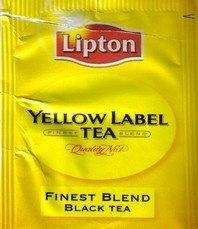 Lipton - Yelow label (foil) - cutted