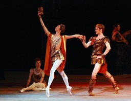 Maria Allash as Aegina and Alexander Volchkov as Crassus in Spartacus.jpg