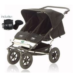 Urban Double Elite Stroller in Black