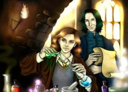 Snape and Granger by Tylia