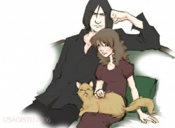 Snape and Hermione by usagistu