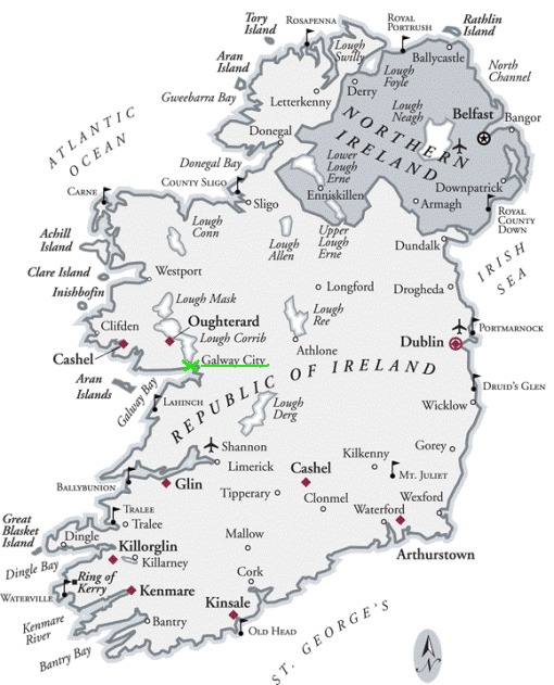 Galway na mapě/ Galway on the Map