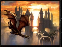 Sunset Dragon, © CIRUELO-Fantasy Art, http://www.dac-editions.com