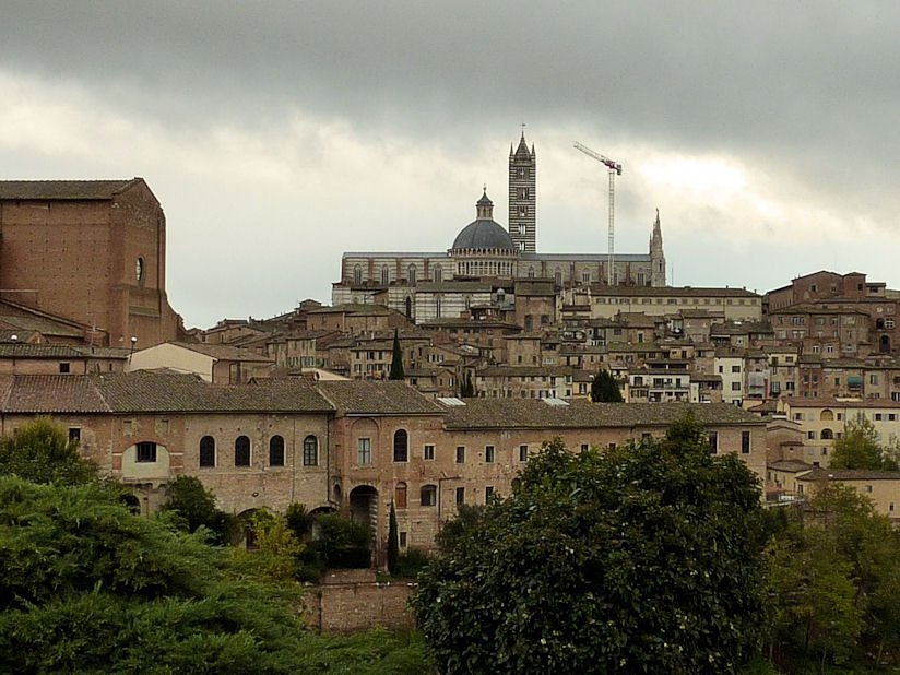 Siena dominovaná katedrálou/ Siena Dominated by the Cathedral